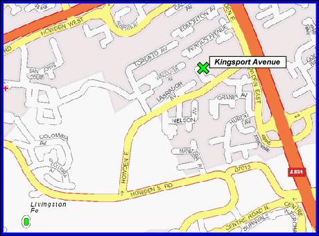 map of Kingsport Dental Clinic Livingston Location